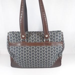 Vintage Michael Kors Canvas/Leather Footed Tote